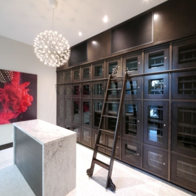 Enclosed Wine Storage Cellar Dark Wood