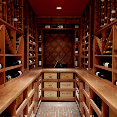 Light Wood Wine Cellar Racks Drawers