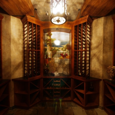 Classic Wood Wine Cellar Middle Painting