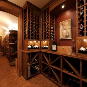 2 Room Wood Wine Cellar