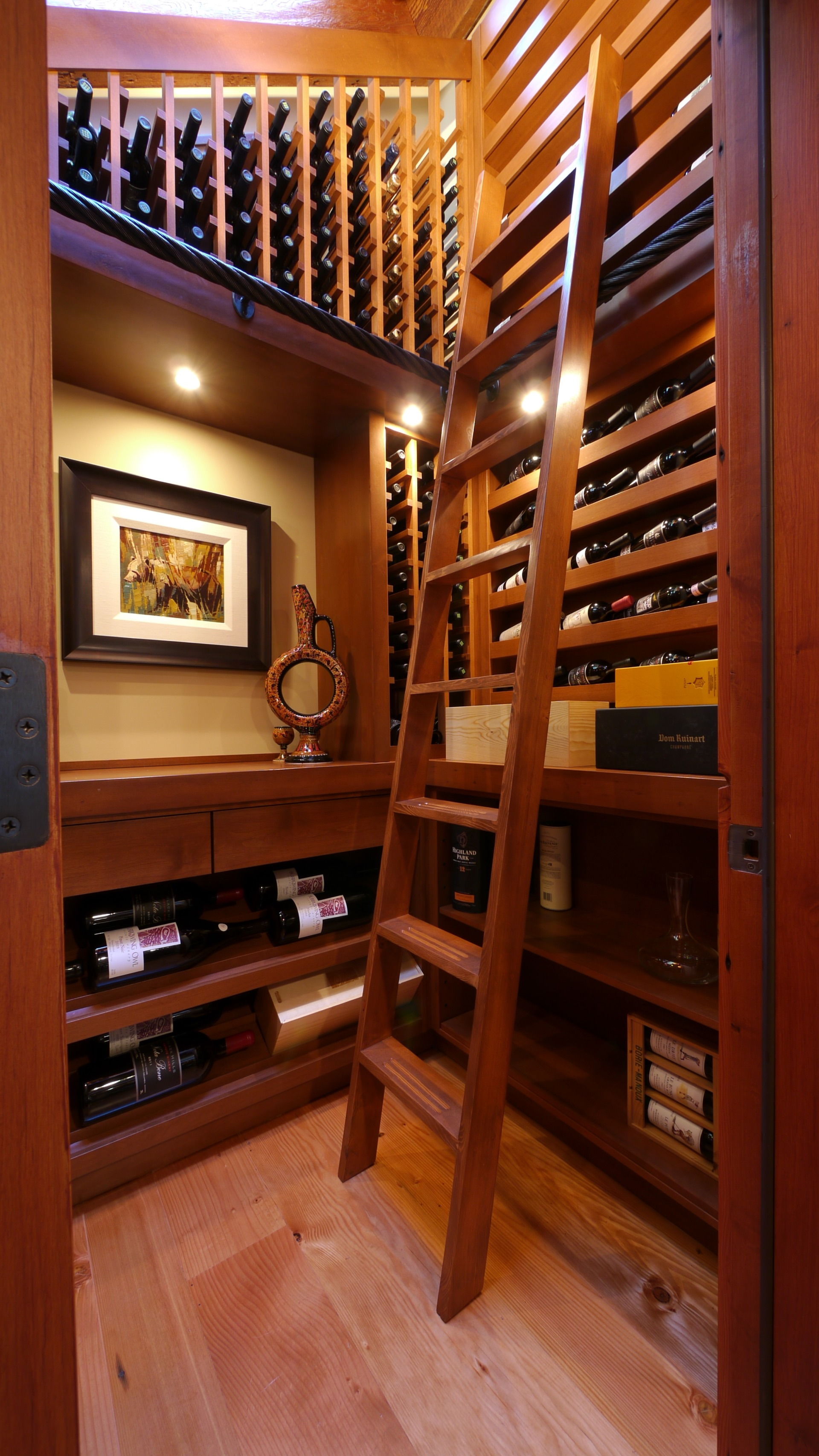 Turn Closet Into Wine Cellar with Ladder