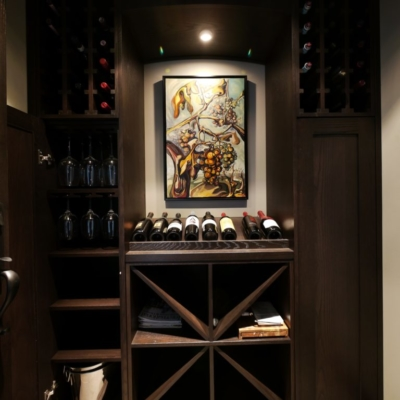 Small Dark Wood Wine Cellar