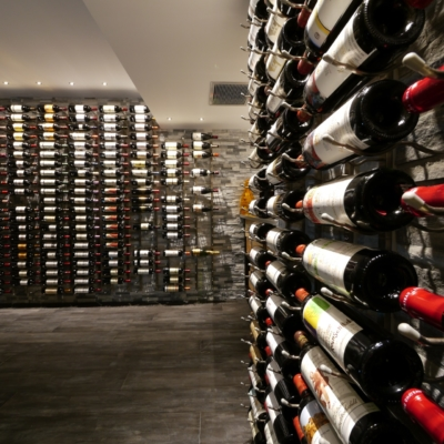 Close Wine Cellar with Rack