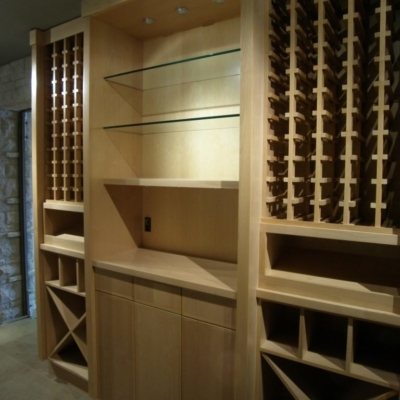 Light Wood Wine Cellar