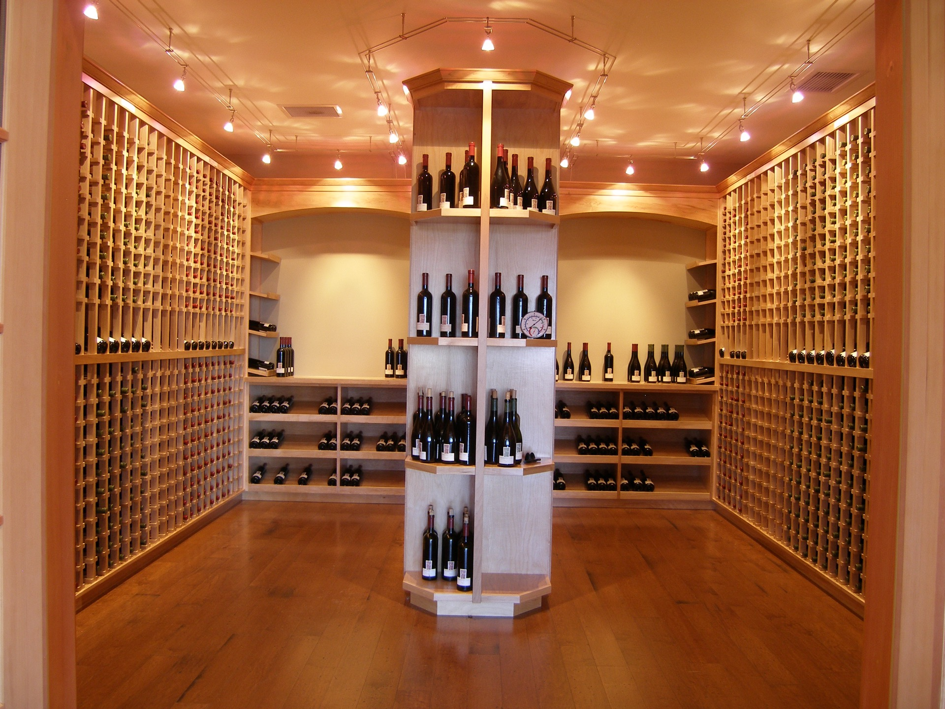 Full Light Wood Wine Cellar Front