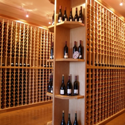 Large Light Wood Wine Cellar