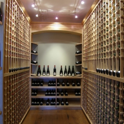 Light Wood Wine Cellar Room