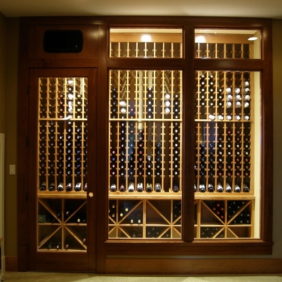 Light Interior Wine Cellar Enclosed