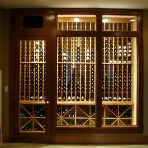Light Interior Wine Cellar Enclosed