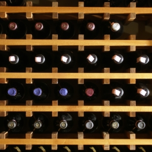 Light Wood Wine Cellar Close Up Front