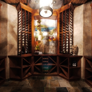 Wood Cellar Around Painting