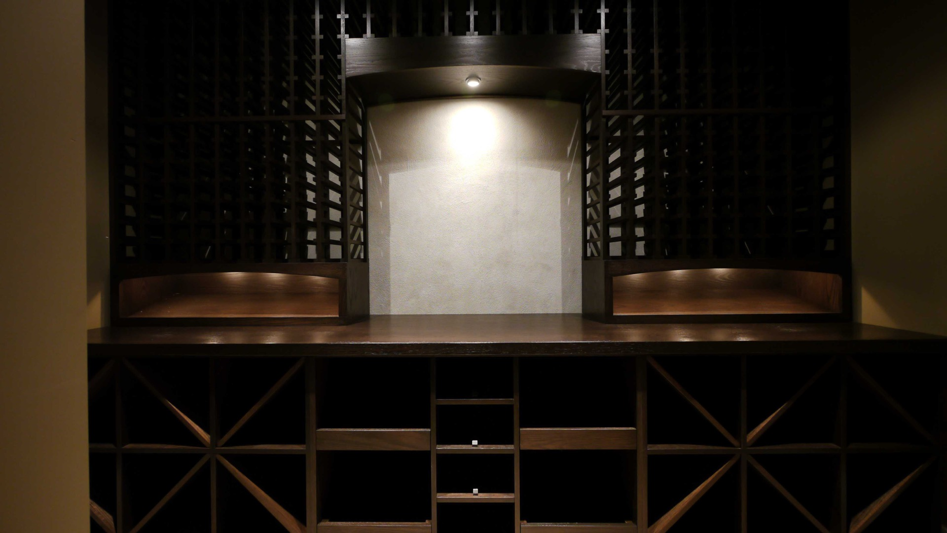 Shrine For Wine Cellar Dark Wood